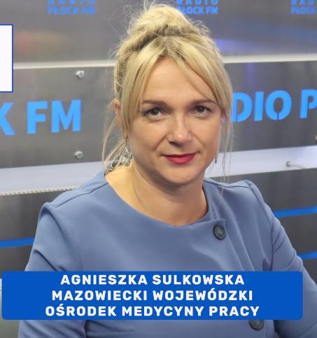 Zdjęcie dyrektor MWOMP Agnieszki Sulkowskiej w radiu Płock FM